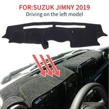 Smabee Dash Mat Dashmat Suzuki Jimny için 2019 2020 Anti kayma Mat Dashboard kapak Pad güneşlik Dashmat halı aksesuarları siyah