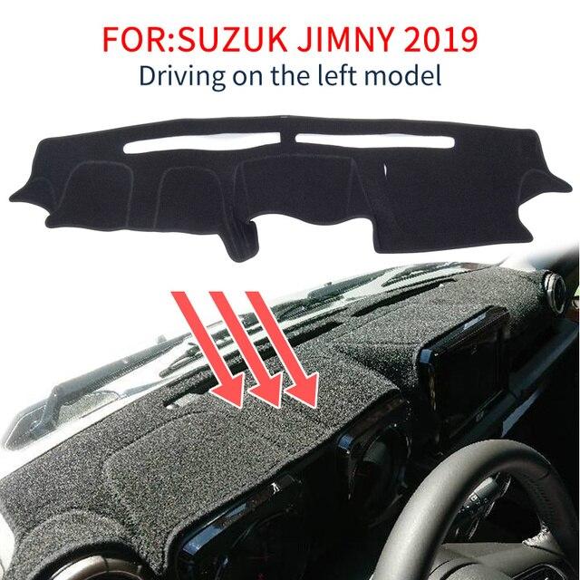 Smabee Dash Zerbino Dash Zerbino per Suzuki Jimny 2019 2020 Tappetini Anti Scivolo Zerbino Cruscotto Rilievo Copertura Parasole Dash Zerbino tappeto Accessori nero