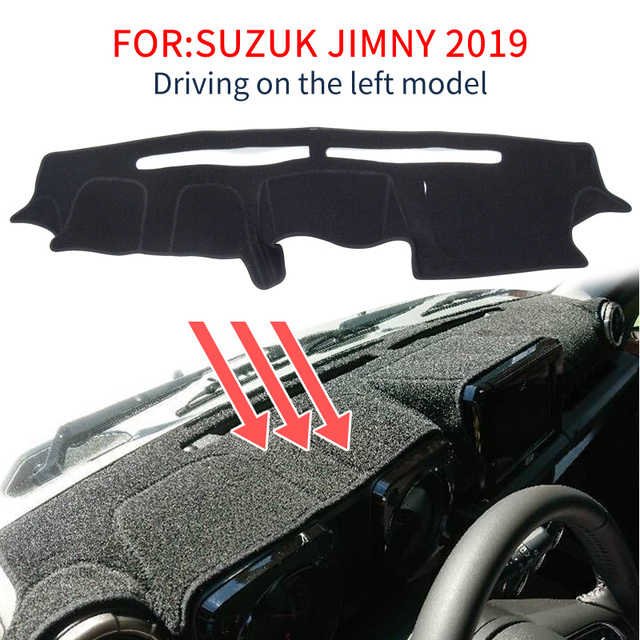Smabee tapis de tableau de bord antidérapant noir pour Suzuki Jimny 2019 2020