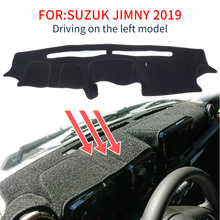 Smabee traço esteira dashmat para suzuki jimny 2019 2020 tapete antiderrapante painel capa almofada pára sol dashmat tapete acessórios preto