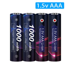 Batterie Lithium-ion Rechargeable AAA 1.5v, 1.5 mwh, 1.5v