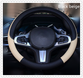 High quality 37-38 cm diameter car parts steering wheel cover for BMW F07 F10 F11 M5 Z4 E85 E89 E61 E60 E63 i8 and i3 E39 image