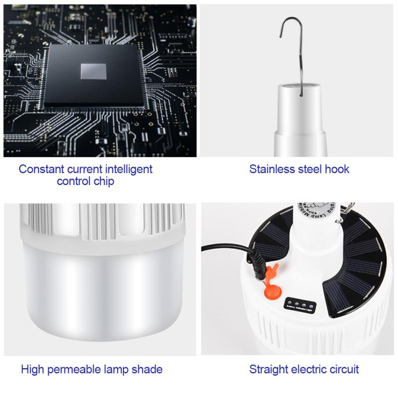 Electronics - USB Portable Rechargeable Light Bulb For Outdoor Camping Dimmable Lanterns Emergency Lights For BBQ Hanging Night Light US Plug