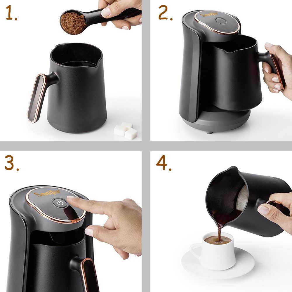 800W Automatico di Caffè Turco Caffè Macchina Per il Caffè Elettrica Senza Cordone di Caffè Piatto di Cibo Grade Moka di Caffè Bollitore per il Regalo 220V sonifer