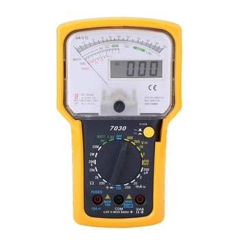 KT7030 AC/DC Analog Multimeter Tester, Digital Analog Multimeter Tester Double Display Voltage Resistance Pointer Multimeter Tes