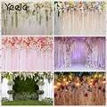 Yeele, приталенный смокинг, брендовый модный белый свадебный шторы с изображением цветущей гирлянды вечерние фон для фотосъемки Декорации дл...