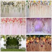 Yeele casamento branco cortina flor floral guirlanda parede fotografia fundos decoração backdrops para estúdio de fotos
