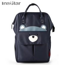 INSULAR diaper bag Multifunctional Mummy Backpack Handheld Large Capacity Baby bag Mummy Maternity Nappy Bag