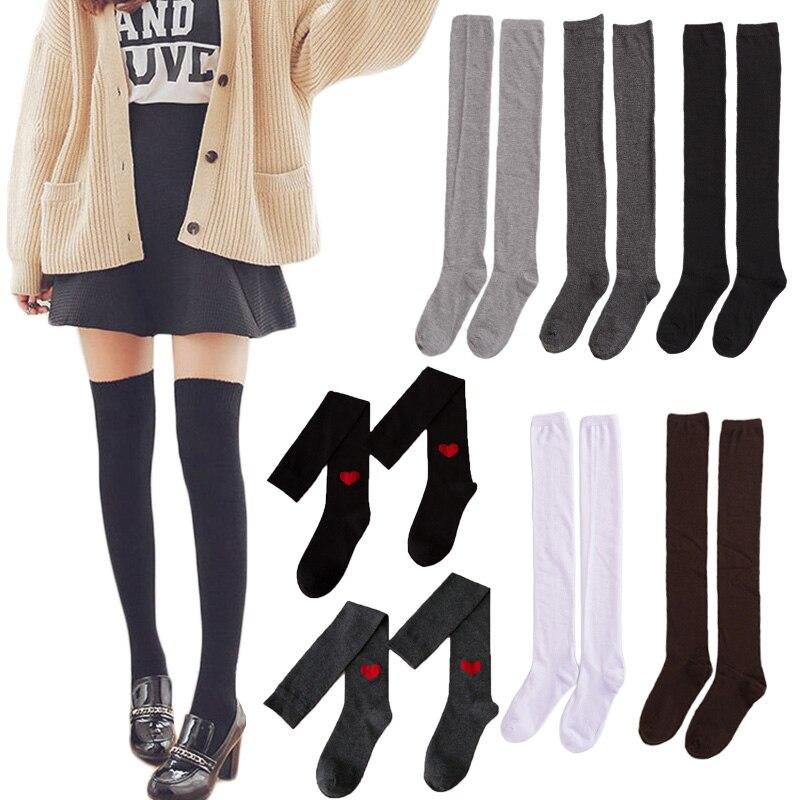 Женские носки, чулки, теплые ботфорты, длинные хлопковые чулки, сексуальные чулки