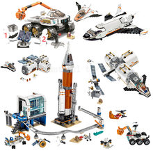 NEW City Space Series Lunar Space Station Exploration Building Blocks Sets Bricks Rocket astronaut Model Children Toys Gifts(China)