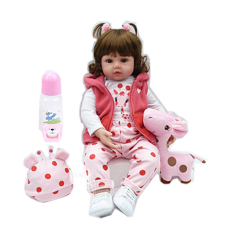 1set 19inch 48cm lifelike bebe reborn <font><b>doll</b></font> baby reborn newborn wholesale toys for child Christmas gift birthday gift <font><b>lol</b></font> <font><b>doll</b></font> image