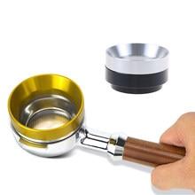 Anillo dosificador inteligente de acero inoxidable, tazón de elaboración de cerveza, café en polvo para embudo de café, portafiltro, 53mm
