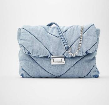 Luxury designer jeans bags women denim chain crossbody for 2020 womens handbags shoulder messenger female