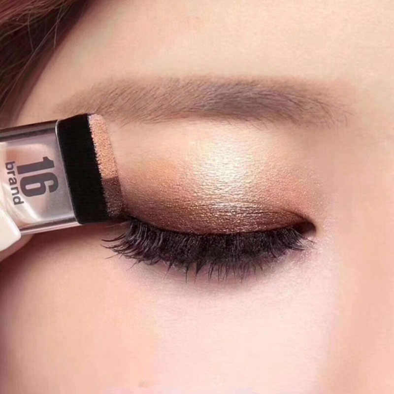 Natural Two-Colors Gradient Eye Shadow Palette Easy to Wear Lazy Eyeshadow Non-blooming Waterproof Glitter Eyeshadow Pro
