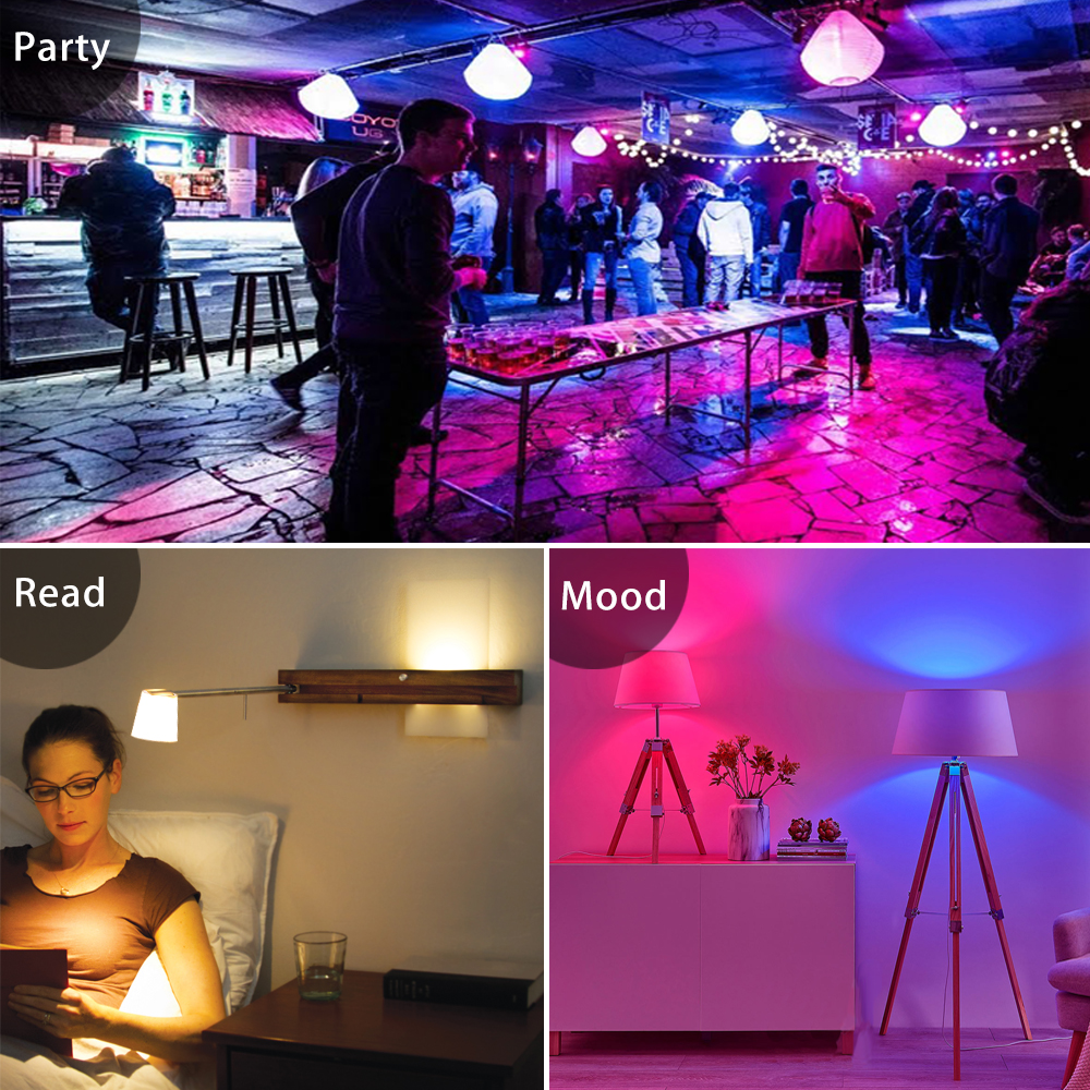 Image 3 - E27 LED 5/10/15W 16 Color Changing Magic Bulb 220V 110V RGB + White Remote Smart Light lamp Dimmable Memory + IR Remote Control-in LED Bulbs & Tubes from Lights & Lighting