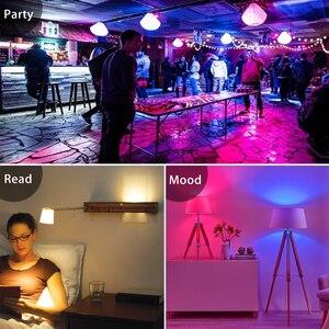 Image 3 - E27 RGB LED ampul 5w 10w 15W 16 renk değiştiren sihirli lampada akıllı işıkları lamba 220V 110V renkli bellek modu + IR uzaktan kumanda