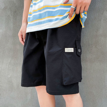 Men's shorts 2020 summer new slim pure color five-minute pants shorts loose casual fashion personality youth men's wear