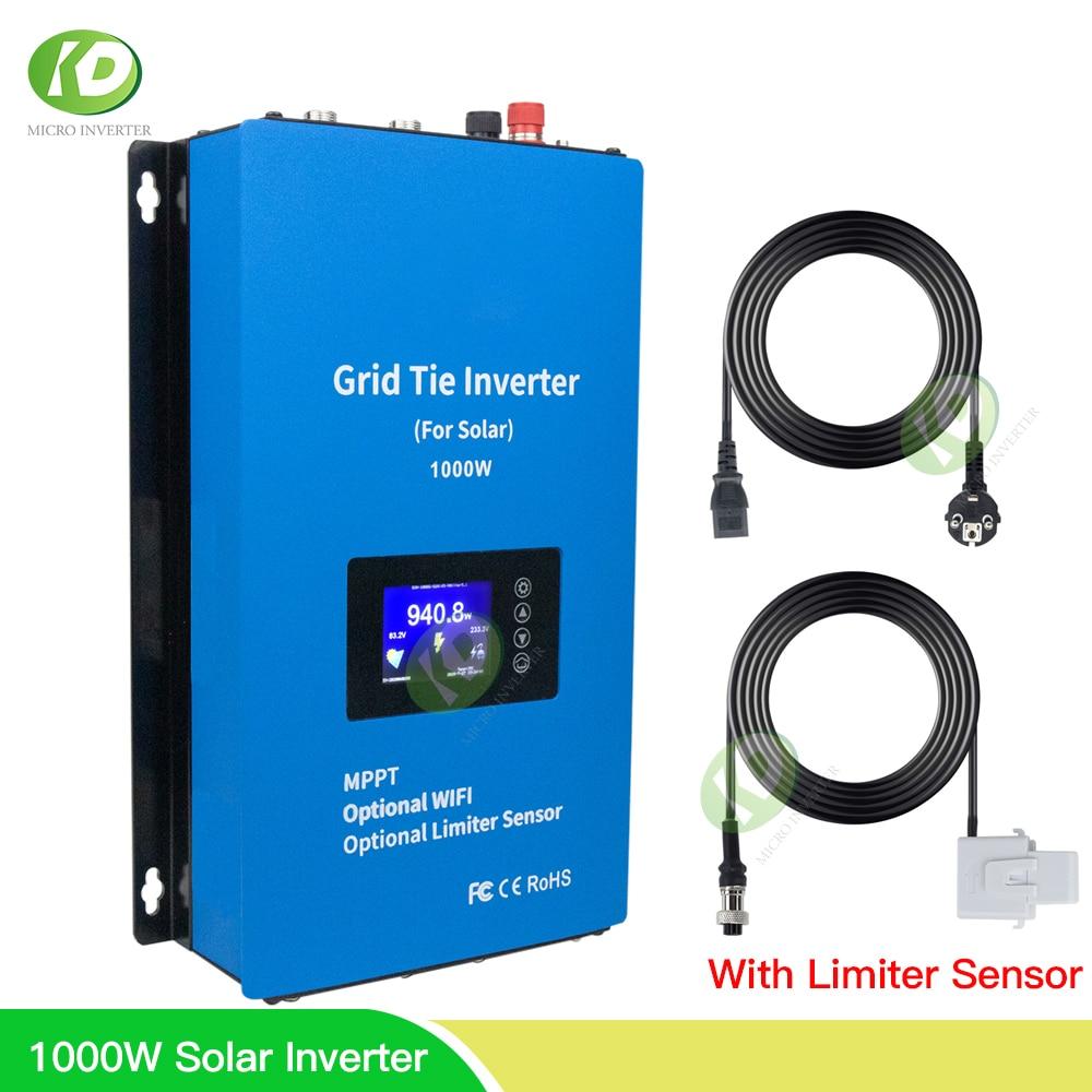 Inversor Solar MPPT de 1000W con Sensor limitador, Inversor de conexión a red de 30V y 36V, de onda sinusoidal pura invertida de 110V y 220V para PV de 300W y 350W