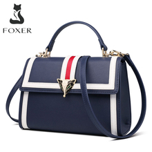 FOXER Brand 2019 New Design Office Gentlewoman luxury Stylish Shoulder Bags & Totes Female Large Capacity Leather Messenger Bags