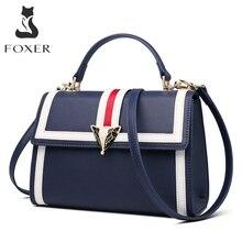 FOXER marka 2019 yeni tasarım ofis Gentlewoman lüks şık omuz çantaları & tote kadın büyük kapasiteli deri postacı çantası