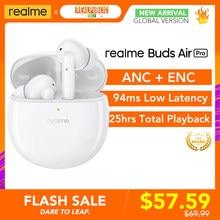 Realme Buds Air Pro ANC aktywna redukcja szumów do 35dB ENC 10mm wzmacniacz basowy sterownik 25hrs całkowite odtwarzanie szybkie ładowanie