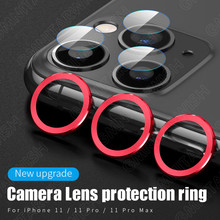 Новое поступление, камера-объектив защитный чехол с металлическим кольцом для iPhone 11 Pro Max Защита объектива камеры Полный чехол+ стекло объектива
