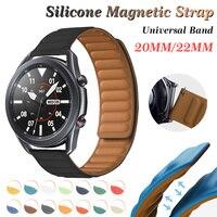 20Mm 22Mm Siliconen Magnetische Riem Voor Samsung Galaxy Horloge Band 42Mm 46Mm Galaxy Horloge 3 45mm 41Mm Voor Amazfit Bip Gtr Band