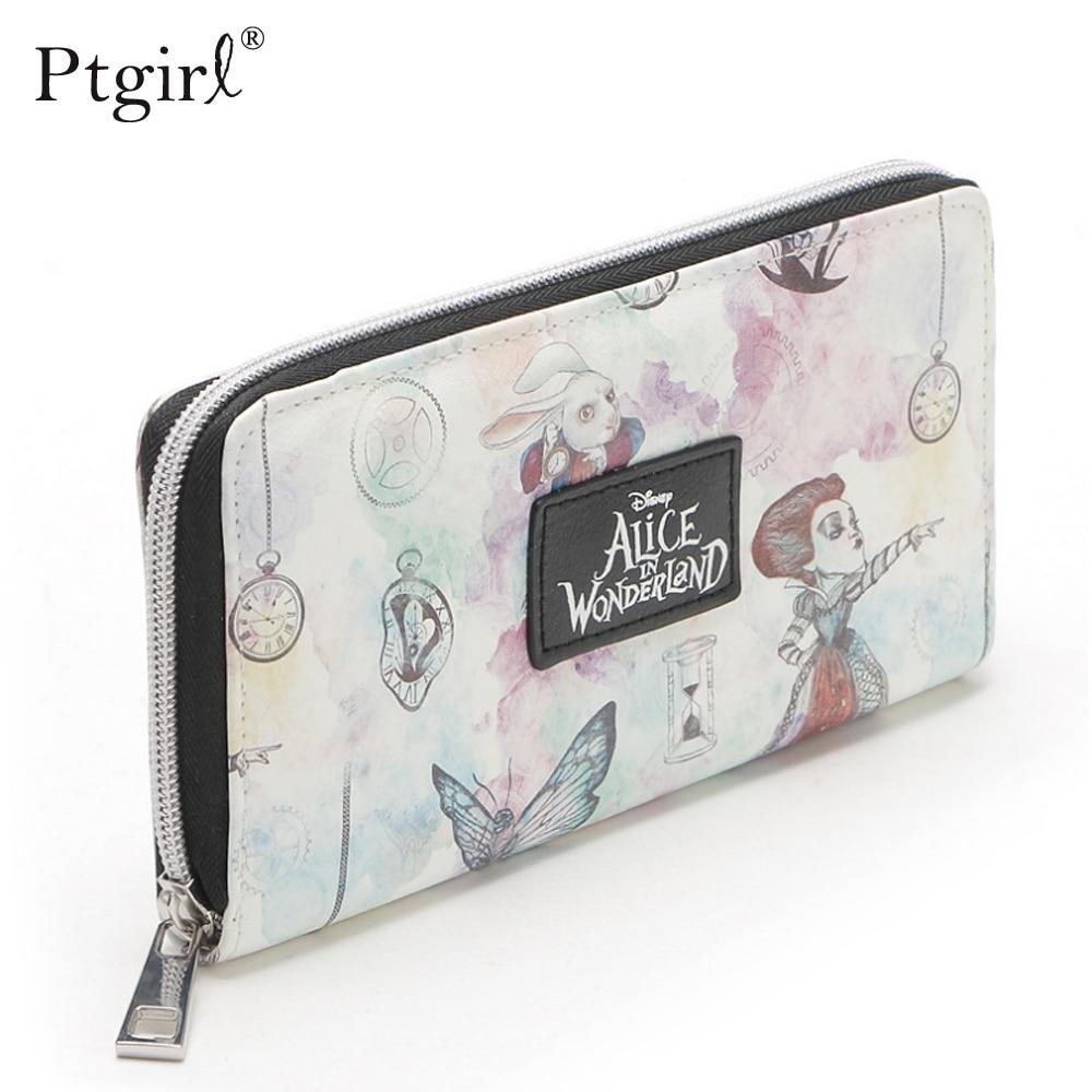 Alice In Wonderland Zip Around Wallet Fashion Women Wallet Ptgirl Porte Feuille Femme Monnaie кошелек женский Women Wallets Bags