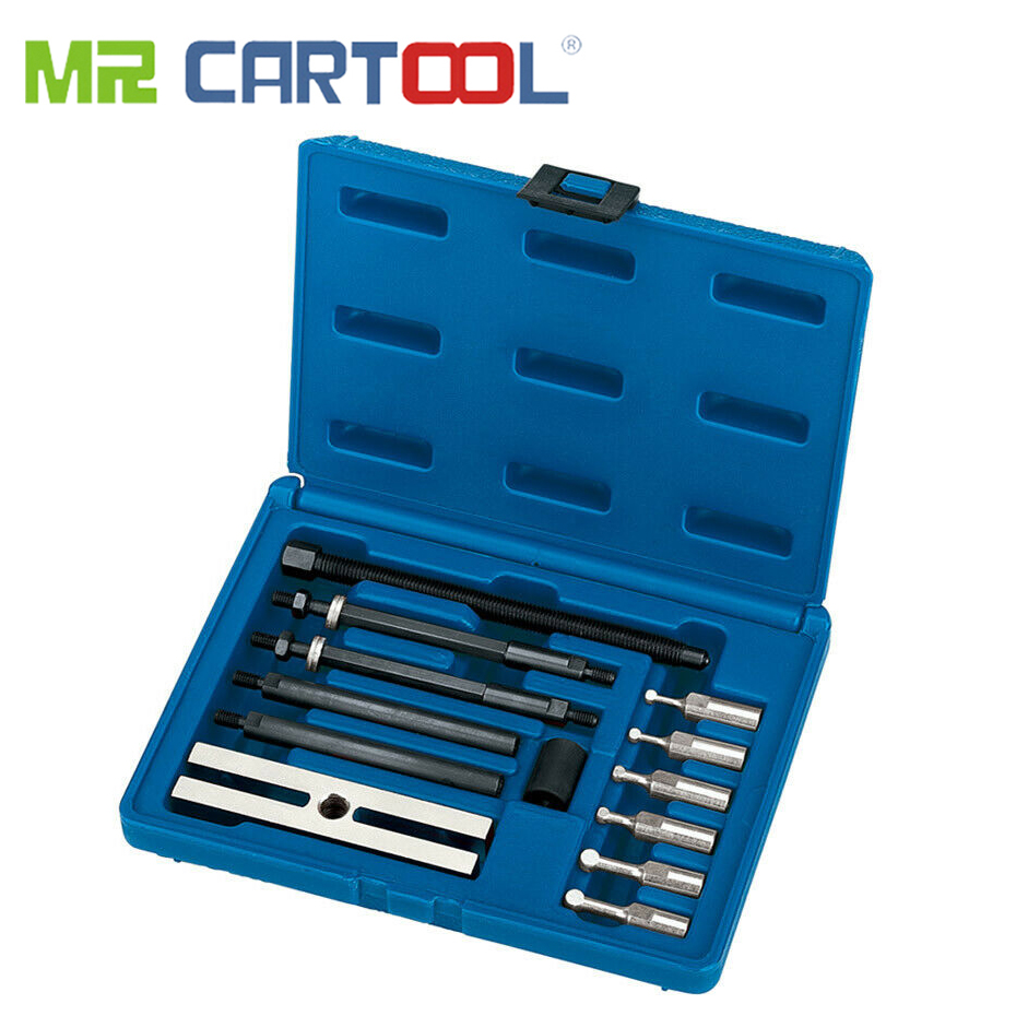 MR CARTOOL 13 Piece Small Insert Bearing Race Puller Remover Tool Kit Small Insert Bearing Puller Professional Car Repair Tool