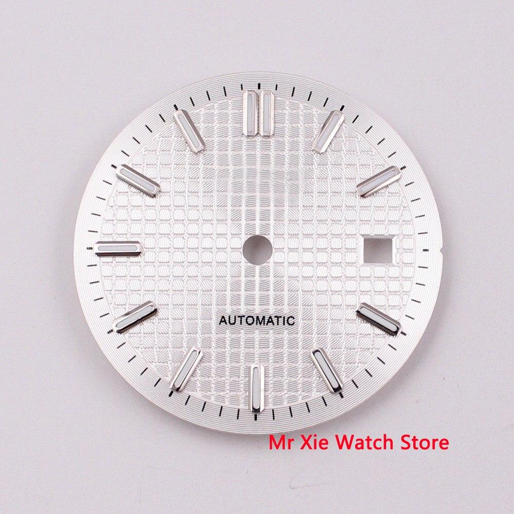 31mm sterile black blue silver gray watch dial fit ETA 2824 2836 Miyota 8205 8215 821A Mingzhu DG 2813 3804 movement