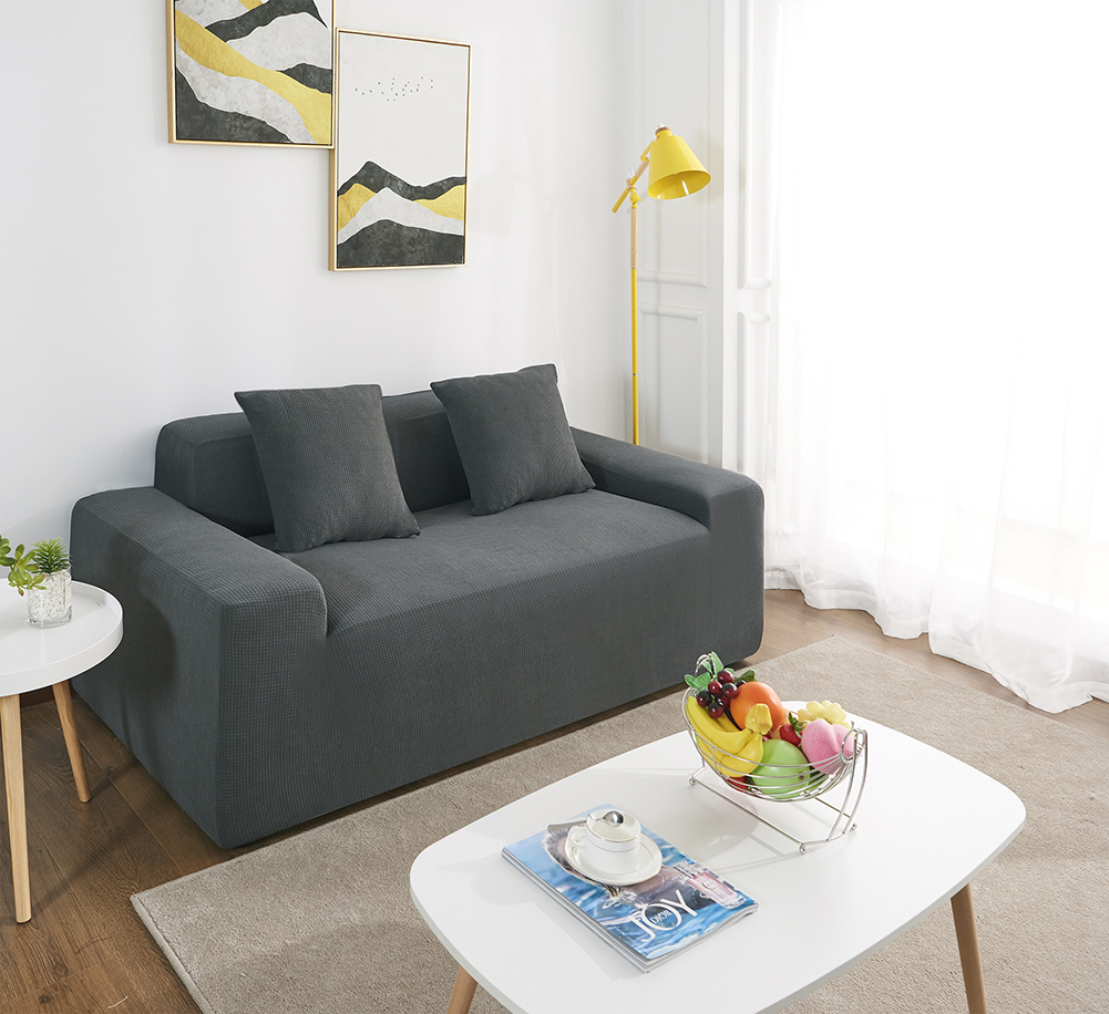 MEIJUNER Waterproof Sofa Cover in Solid Color with High Stretchable Slipcover for Dining Room 16