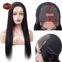 SVT Lace Closure Human Hair Wigs 4x4 Closure Lace Wigs Remy Brazilian Hair Wigs 150% Straight Lace Closure Wig Natural Hairline