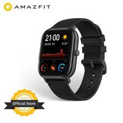 النسخة العالمية الجديدة Amazfit GTS ساعة ذكية 5ATM السباحة مقاوم للماء Smartwatch 14 أيام بطارية تحكم بالموسيقى للهاتف أندرويد