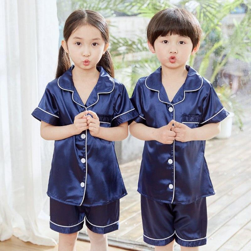 Boys' Summer Satin-Silk Nightwear