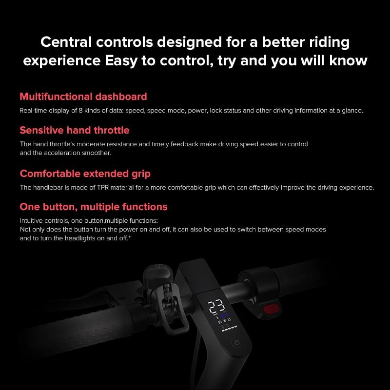 Xiaomi Mi Electric Scooter Pro 2 Original Lightweight Mijia Foldable Skateboard 25km/h 45km Distance ABS 12800mah