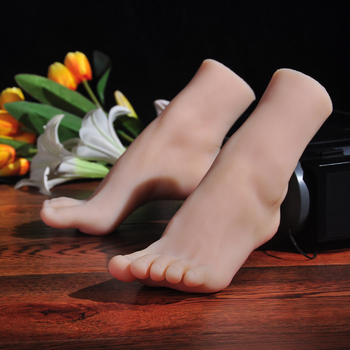 Silicone Fake Foot,Toe Move Freely,Feet Model for men,female Shoe Model,silicone foot sex toy,foot fetish toys