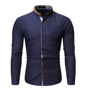 Shirt Printed Stamped Long-Sleeve Blouse Chemise Fashion Camisa Homme Hombre Hombre