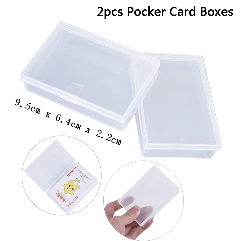 2PCS Plastic Box Playing Cards Container Storage Case Poker Game Card Box