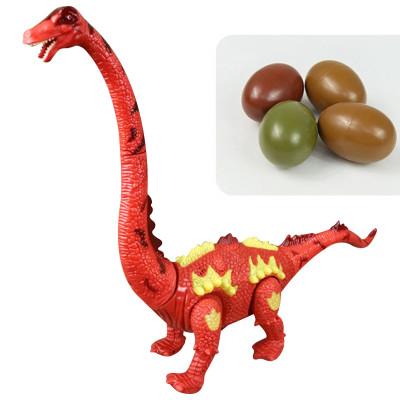 Electric Toy Dinosaur Walking Lay Egg Long-necked Projection Simulation Animal Model High Quality
