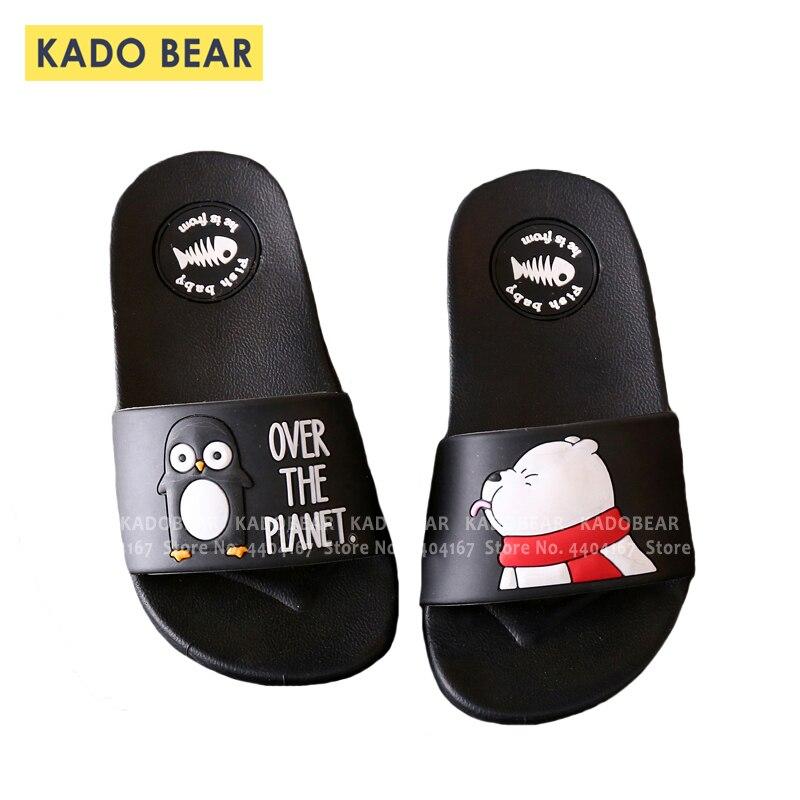 Kids Cartoon Bear Indoor Slippers Toddler Boys Girls Family Summer Home Flip Flop Baby Bedroom Shoes Children Beach Wear Sandals
