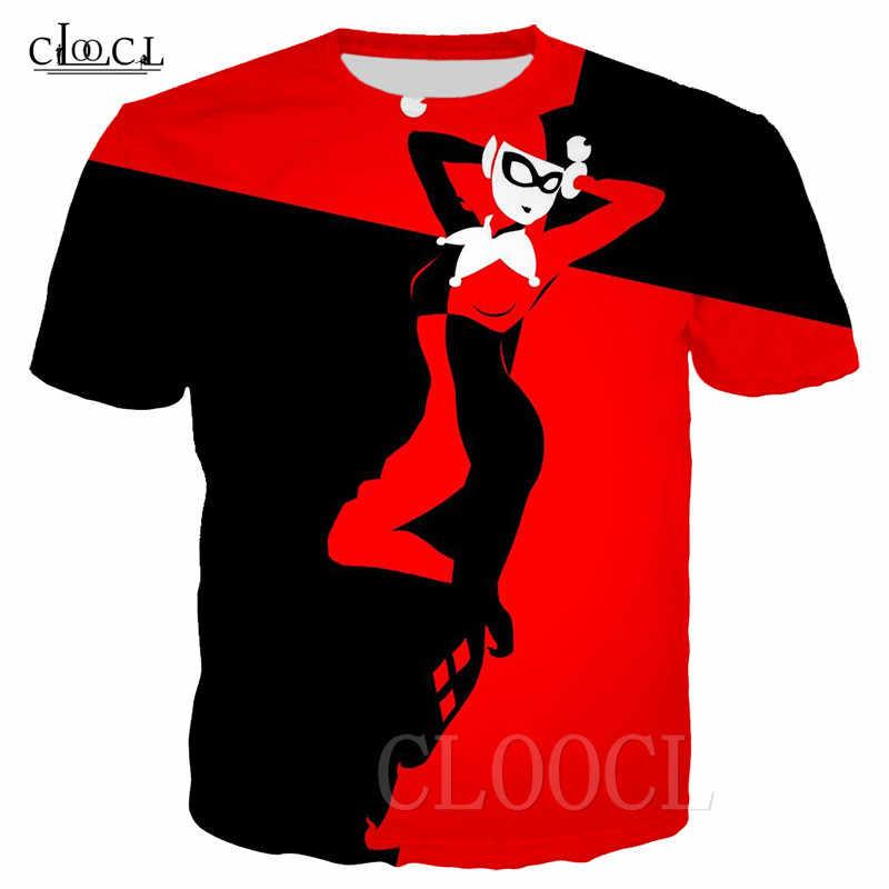 Anime Harley Quinn Divertente T-Shirt Donne Degli Uomini Più Il Formato T Shirt Sexy Pagliaccio Del Fumetto 3D Stampa Tshirt Felpe Abbigliamento Sportivo Tee magliette E Camicette