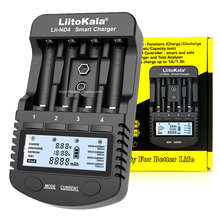 LiitoKala Lii ND4 NiMH / Cd charger aa aaa charger LCD display and test battery capacity For 1.2 V aa aaa and 9V batteries.
