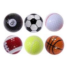 6pcs Sports Theme Golf Ball Training Sports Balls Simulation