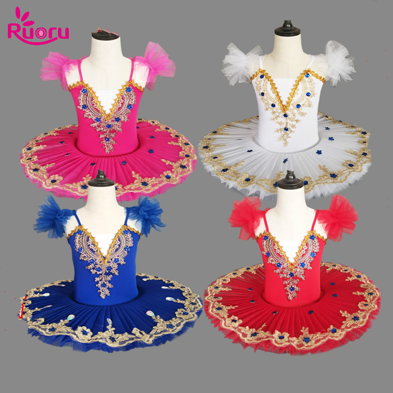 Ruoru Ballerina Party Dress Adult Kids Girls Ballet Tutu Dress Professional Ballet Tutu Child Toddler Girl Clothes Vestido Party