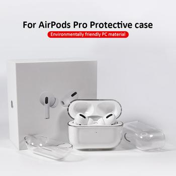Przezroczysta bezprzewodowa torba na ładowanie słuchawek do Apple AirPods Pro case twardy komputer zestaw słuchawkowy Bluetooth Clear Protective tanie i dobre opinie comfast CN (pochodzenie) Słuchawki Przypadki for Apple Airpods Pro Silikon Support