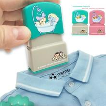 Baby Custom имя печать дети учитель мультфильм детский сад все язык имя ученик одежда не выцветание маленький животное рисование
