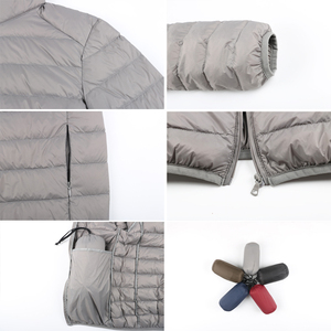 Image 3 - Chaqueta ultraligera de tela mate con capucha para hombre, chaqueta de plumón para invierno, cortavientos, chaqueta de plumas, abrigo portátil ligero para hombre