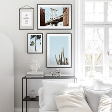 Cactus Coconut Tree Bridge Nordic Posters And Prints Wall Art Paper Painting Scandinavian Pictures For Living Room Decor