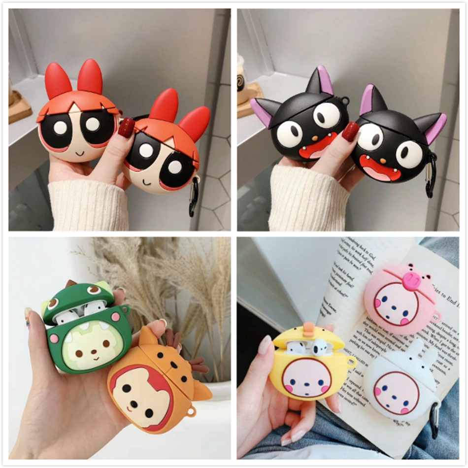 3D Bluetooth Wireless Earphone Case For AirPods 2 Case Silicone Squirrel Cute Cartoon Protector Cover For Apple Air Pods Case