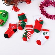 5 пар/лот новый год Рождественские носки для детей детские милые